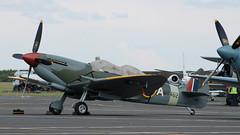 Spitfire: PT462 Spitfire T.9 Newcastle Airport (emdjt42) Tags: pt462 gctix spitfire newcastleairport