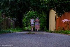 Summer walk. (nataliekrovetz) Tags: july2018 fujifimxt2 summer xt2 family people alley belmont charlottesville aging daughters alleylife downlow perspective women generations