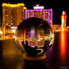 Las Vegas by night - View through a cristall sphere. Think different!