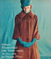 Sidney Blumenthal 1961 (barbiescanner) Tags: vintage retro fashion vintagefashion 60s 60sfashions 1960s 1960sfashions 1961 vintageadvertising 60sadvertising 1960sadvertising seventeen sidneyblumenthal