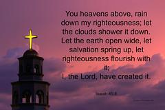 Heavenly Skies (Carl Cohen_Pics) Tags: isaiah458 isaiah bible scripture scriptureverse salvation sky clouds church dusk oldtestament canon summer evening