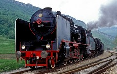 06 018 + 03 002  Roc  01.05.89 (w. + h. brutzer) Tags: roc 06 eisenbahn eisenbahnen train trains railway jugoslawien dampflok dampfloks steam lokomotive locomotive zug 01 webru analog nikon