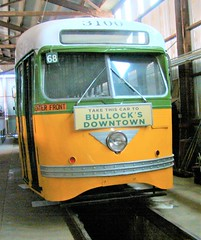 "Orange Empire Railway Museum, Perris - ""Take this car to Bullock's Downtown"" (ramalama_22) Tags: orange empire railway museum perris riverside county california los angeles streetcar trolley bullocks department store downtown"