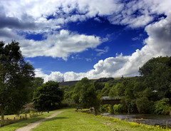 Veiw of the tower (KeiraT10) Tags: landscape landscapes park parks rammy ramsbottom nuttall blue skies river side