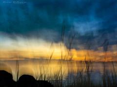 Sea on fire (Mona Nilsson (pixmixx)) Tags: storeudd sunset impressionism