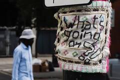 Yarn bomb (Simon Crubellier) Tags: europe england uk londonist tz60 streetart lumix graffiti simoncrubellier panasonic london britain camden yarnbombing
