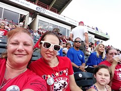 2018_TTG_July28_4 (TAPSOrg) Tags: taps tragedyassistanceprogramforsurvivors tapstogethers richmond virginia milb baseball richmondflyingsquirrels outdoor horizontal redshirt women girl kid child selfie posed