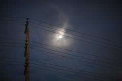 Celestial Games (N A Y E E M) Tags: sky cloud moon atmosphere light electricpole lawn evening dusk hotel radissonblu chittagong bangladesh sooc raw unedited untouched nayeemkalam 2018 handheld canon1dsmarkiii canon85mm12