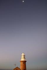 Light emitters and reflectors (Paul Threlfall) Tags: vlaminghheadlighthouse wa westernaustralia lighthouse moon bluehour luna northwestcape