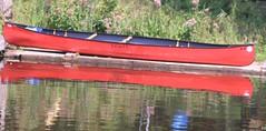 rd cnoe 1 (Kens images) Tags: canoe red canal water nature challenge reflection compose colour camping summer celebration outdoors canon