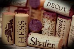 Wine Corks. (EOS) (Mega-Magpie) Tags: eos 60d indoors wine cork corks hess collection shafer duckhorn decoy silverado