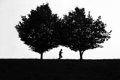 Running man (novak.mato91) Tags: running blackandwhite bw zasavje zagorje slovenia slovenija nature nikon d7200 minimalism simplicity contrast composition
