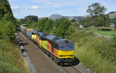 60021/70813 (elr37418) Tags: colas logs 60021 70813 settle carlisle 6j37 orange yellow nikon d7100 yorkshire uk britian england railfreight