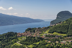 Village in the valley (mystero233) Tags: lagodigarda lago lake garda lakegarda water valley village houses building architecture italy europe view alps green outdoor hike travel trip journey sky blue landscape