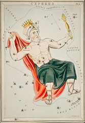 Sidney Hall's (1831) astronomical chart illustration of the Cepheus. Original from Library of Congress. Digitally enhanced by rawpixel. (Free Public Domain Illustrations by rawpixel) Tags: aerostatique antique art arts astrological astronomy celestial cepheus cephus character chart club constellations crown drawing etchings hall handcolored illustrated illustration locimage magical man map mythological name old paints paper royal sidney sidneyhall sketch stars vintage zodiac