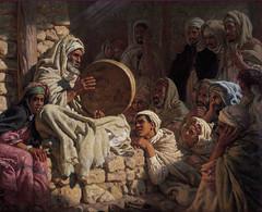 Blind Meddah singing The Tale of The Prophete by Etienne Dinet (skaradogan) Tags: orientalism orientalisme painting algeria algerie north africa maghreb peinture