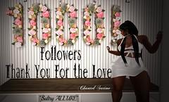 💎1000💎 Beautiful Followers (Sultry ALLURE) Tags: chantelsatine chantel sultryallure avatar secondlife sl 1000 followers friends bloggers designers sponsors
