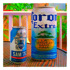 Mine's the one on the right :-) (Timothy Valentine) Tags: 2018 0818 can distortion beer home sliderssunday eastbridgewater massachusetts unitedstates us
