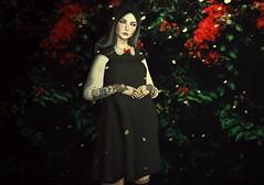 Madeline (Luna Delacroix) Tags: sl second secondlife style sweet goth gothic girl game gothiclolita photo photograph photoshop pastelgoth witch white dark darkwhite edit