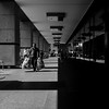 Down The Middle (Sean Batten) Tags: london england unitedkingdom gb streetphotography street blackandwhite bw canarywharf docklands eastlondon light shadow ricoh ricohgr people city urban candid