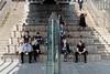 In The Shade (Geoff Henson) Tags: people visitors tourists men women steps bridge shade sunshine seats obelisk