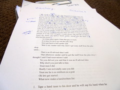 DSC02540 (classroomcamera) Tags: school classroom edit edits editing paper papers write writes writing written type types typing typed story stories pen pens note notes proof proofread proofreads proofreading justified small tiny little font fonts stack stacks stacking stacked ground grounds floor floors pile piles