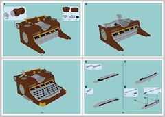 Random skreenshots (timofey_tkachev) Tags: moc steampunk typewriter afol instruction
