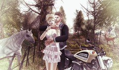 The Break of Spring (Luca Arturo Ferrarin) Tags: secondlife spring beautiful love couple touring baja norte storybrooke bike turlaccor