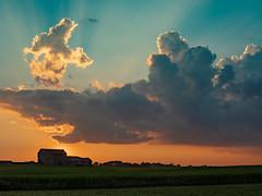 Shades of a Country Sunset (MacDonald_Photo) Tags: jamieamacdonald sl33stak zd lightroom oly olympus zuiko eatonrapids michigan getolympus omd omdem1mkii μ43photography μ43 em1mkii omdem1markii 12100mm 12100mmf4 mzuiko12100mmf4pro nisi nisifilters nisireversegraduatednd sunset countryside barn evening orange clouds cloud crepuscularrays