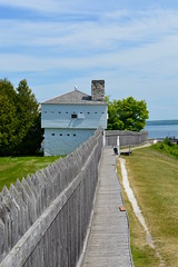 East Blockhouse (Jake (Studio 9265)) Tags: michigan usa united states america mi june 2018 up north outside outdoor sky island mackinac fort fortmackinac military outpost history historic british american fence wooden