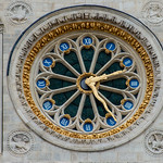 Clock on the west front of St. Denis thumbnail