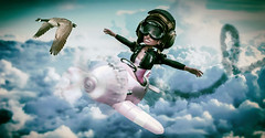Sky Terror (BabyGirlMoni) Tags: secondlife cute funny adoreable muff muffin moni monica plane fantasy