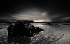 Rock! (balb_kubrox) Tags: rock beach sand sea seascape clouds sky black white sligo coney island