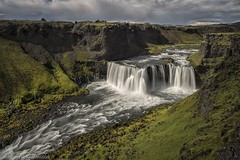 Made In Iceland (Kristinn R.) Tags: iceland waterfall nature highlands clouds sky visipix visipixcollections