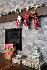 Santa Was Here! (_Codename_) Tags: christmas 2017 christmasday fireplace mantle stocking stockings disney mickeymouse funko pop homealone harry marv cards present presents