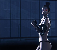 No Prisoners (riowyn.slife) Tags: cyberpunk bodylanguage scifi future omnis sole boon hourglass slink