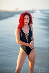 Crucifix (oshcan) Tags: model beach summer sunset girl woman redhead portrait nikon d4s 85mm14