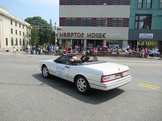 White Cadillac Allanté, 2018 Independence Day Parade, Montclair, NJ