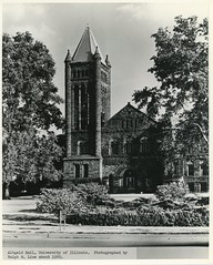 Altgeld Hall, c. 1960 (Champaign Co History Museum) Tags: champaigncounty champaigncountyhistory illinois universityofillinois urbana champaign campus altgeldhall belltower