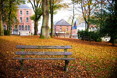 Empty park (SmalltownSwede) Tags: piteå sweden scandinavia canon photography photo belgium park bench trees leaves fall november empty