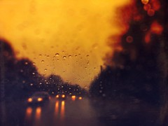 Help someone navigate the storms of life (BLACK EYED SUZY) Tags: amber mobileart storm road color rain drive