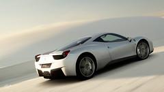 Ferrari 458 Italia (Matze H.) Tags: ferrari 458 italia desert white sand gt sport gran turismo wallpaper uhd 4k scapes silver
