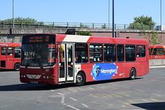 WOB 65 @ Warrington bus station (ianjpoole) Tags: warringtons own buses volvo b6ble wright merit dk56mlu 65 working route 22 warrington bus station liverpool row vulcan village