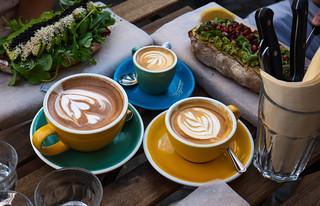 Avocado + Coffee breakfast