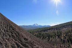 View of Lassen Peak from Cinder Cone (daveynin) Tags: trail cindercone cinder cone mountain peak lassen volcano volcanic beam sun