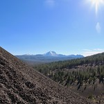 View of Lassen Peak from Cinder Cone thumbnail