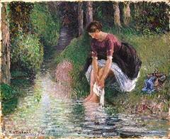 Cayetana & Caton Projects (cayetana.caton) Tags: pinterest camille pissarro cayetanacatonprojects 1895 bain de pied art