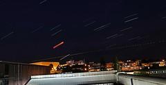 Blood Moon Eclipse and Mars. Und Raumstation ISS.  Star trails Aufnahmen alle 6 sec ein Foto (eagle1effi) Tags: blood moon eclipse mars star trails aufnahmen alle 6 sec ein foto sternenhimmel 10 minuten canon powershot g7 x mark ii canonpowershotg7xmarkii raumstation iss