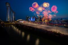 Majulah Singapore (Shutter wide shut) Tags: cityscape composite fireworks mbs marinabay marinabaysands metabonesiv ndp ndprehearsal nationaldayparade richardamar samyang14mmf28 singapore singaporenationalday sonyalpha sonysingapore sonya7r3 sonya7riii twilight wideangle celebration timeblending