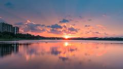 Sunset at Bedok (jacysf) Tags: sunset bedok bedokreservoir waterscape waterreflections reflections clouds sunsetting throughherlens